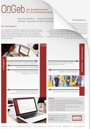 """Flyer """"OnGeb"""" Qualitätssystem für die Gebäudereinigung"""