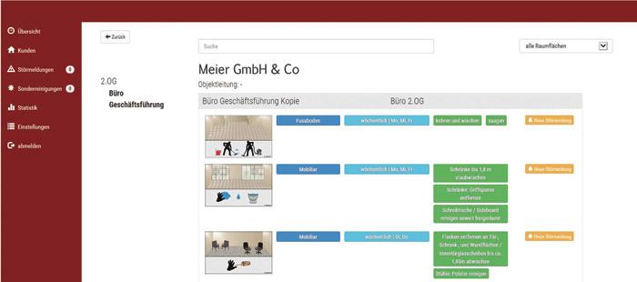 Reinigung: Leistungsverzeichnis im OnGeb Qualitätssystem